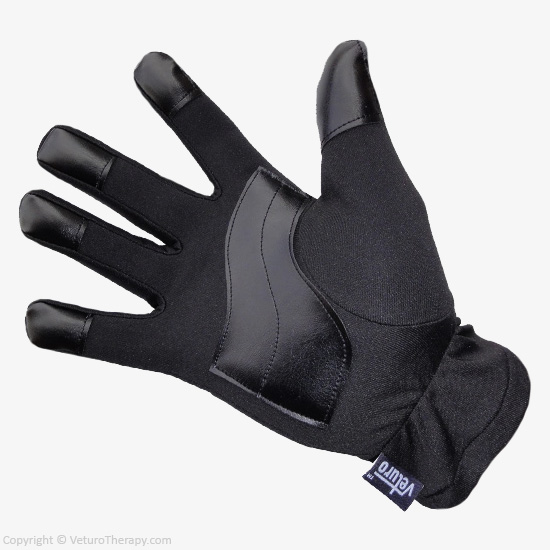 Black leather glove relief 6