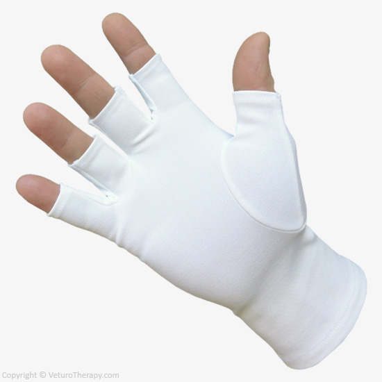 Gloves With Fingertips Out: Infrared Therapy Gloves Half Finger