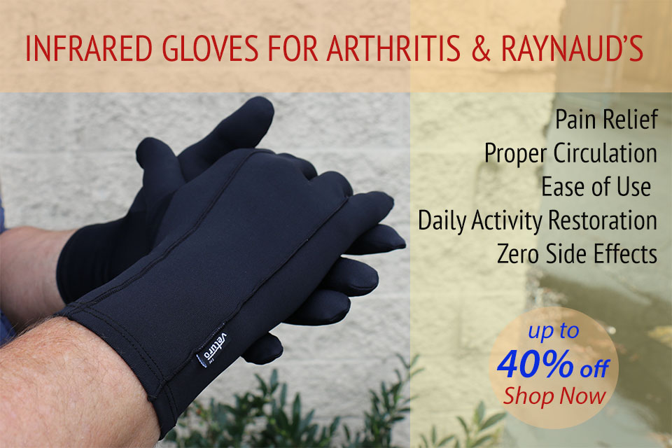 Infrared Therapy Gloves Full Finger & Fingerless for Hand Problems