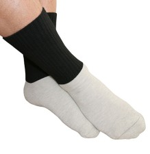 Dry Energy Socks – Diabetic and Cold Foot Mid-Cut Crew Socks Black