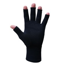 Infrared Open Fingertip Gloves Palm Dotted Grip